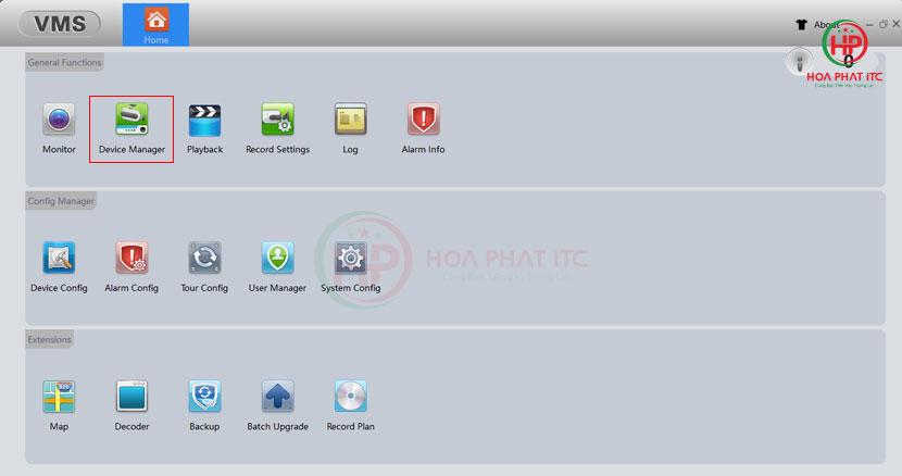 chon device manager - Hướng Dẫn Kết Nối Camera Vitacam
