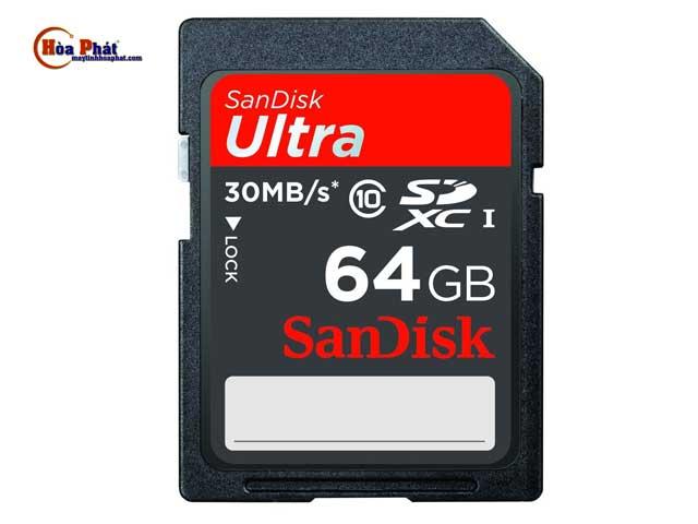 the nho SD Sandisk 64Gb - Thẻ nhớ SD Sandisk 64Gb