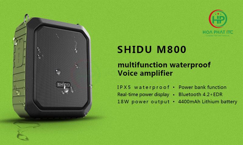 may tro giang khong day SHIDU SD M800 05 - Máy Trợ Giảng Không Dây Shidu SD-M800 wireless