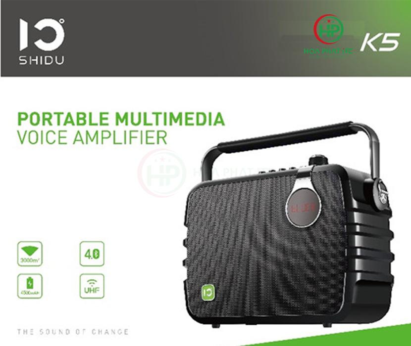loa tro giang shidu k5 06 - Loa Trợ Giảng Shidu K5 60W