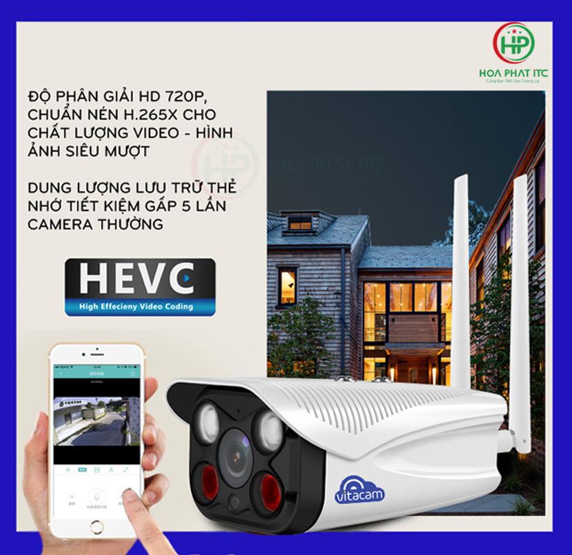 chuan nen hinh anh H.265x - Camera Vitacam VB720 Pro Ngoài Trời
