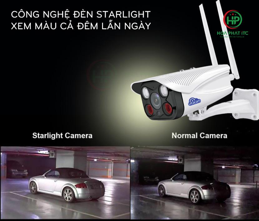 quan sat ban dem ro net - Camera Vitacam VB720 Pro Ngoài Trời