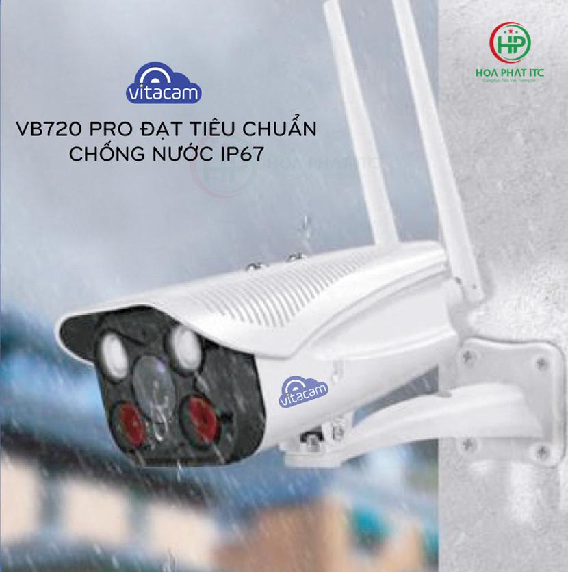 tieu chuan chong nuoc ip67 - Camera Vitacam VB720 Pro Ngoài Trời