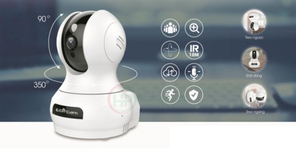 camera ebitcam E3 quay quet - Camera IP Ebitcam E3 (4MP)- Quay quét đàm thoại hai chiều