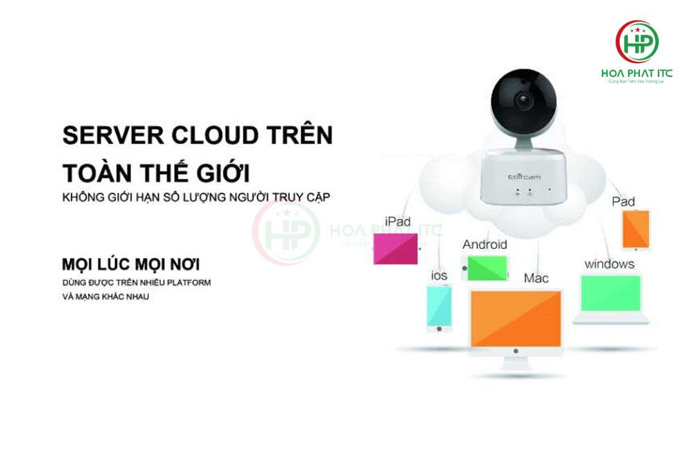 camera ebitcam e2 ho tro xem tren nhieu thiet bi - Camera IP Ebitcam E2 (2.0MP) trong nhà