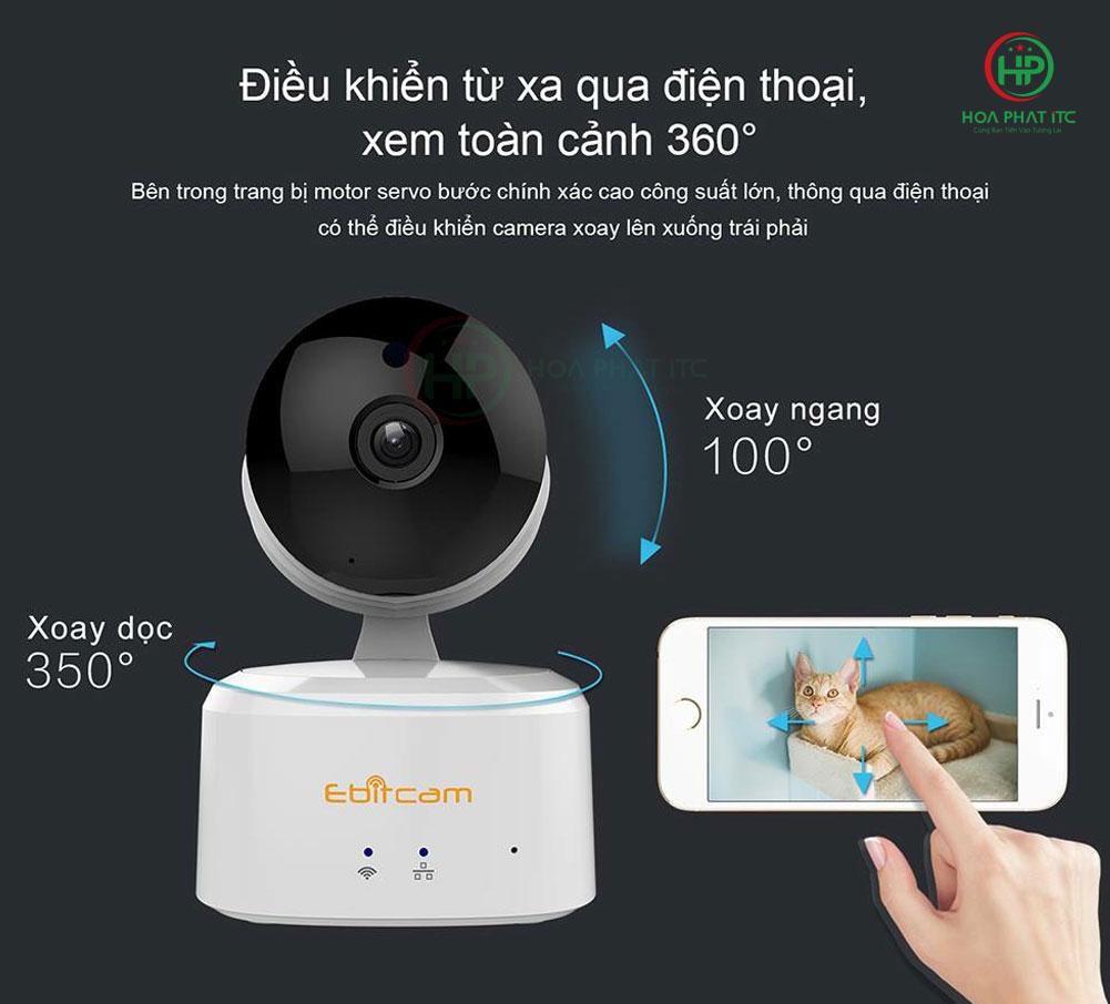 ebitcam e2 dieu khien tu xa quay quet - Camera IP Ebitcam E2 (2.0MP) trong nhà