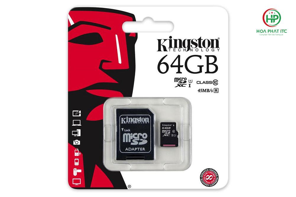 the nho Kingston 64GB Micro SD Class 10 01 - Thẻ nhớ Kingston 64GB Micro SD Class 10