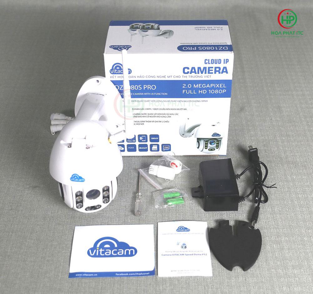 bo san pham day du cua dz1080s pro - Camera Vitacam DZ1080S Pro ngoài trời