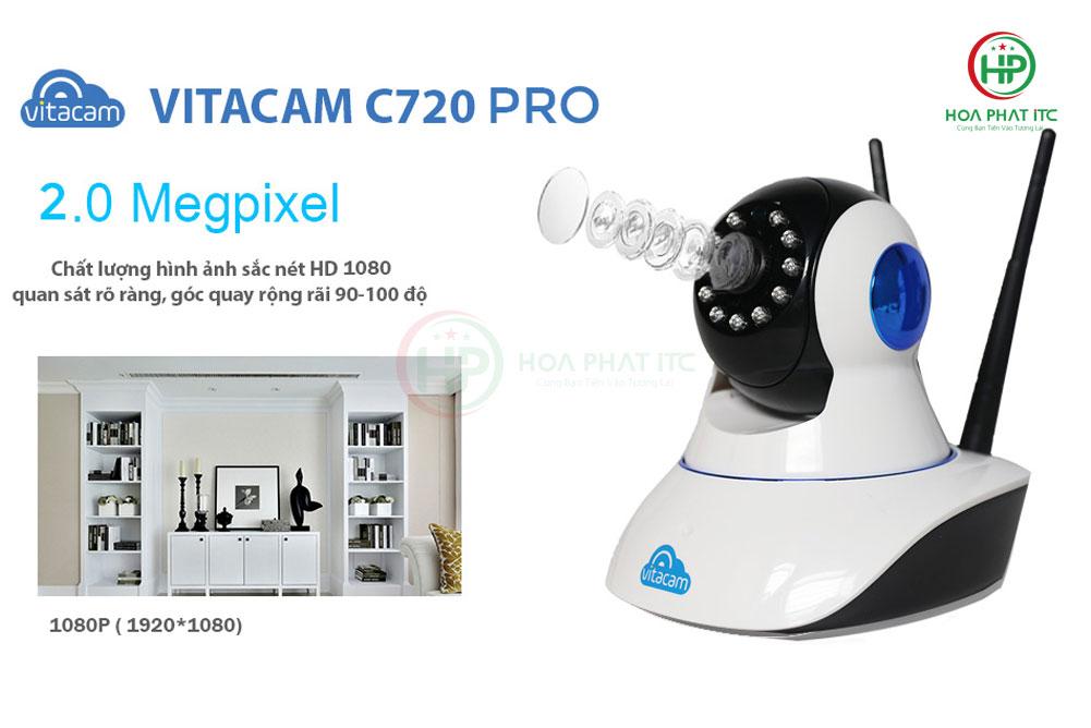 c720 pro do phan giai cao - Camera Vitacam C720 Pro 2.0 MPX - FULL HD 1080P