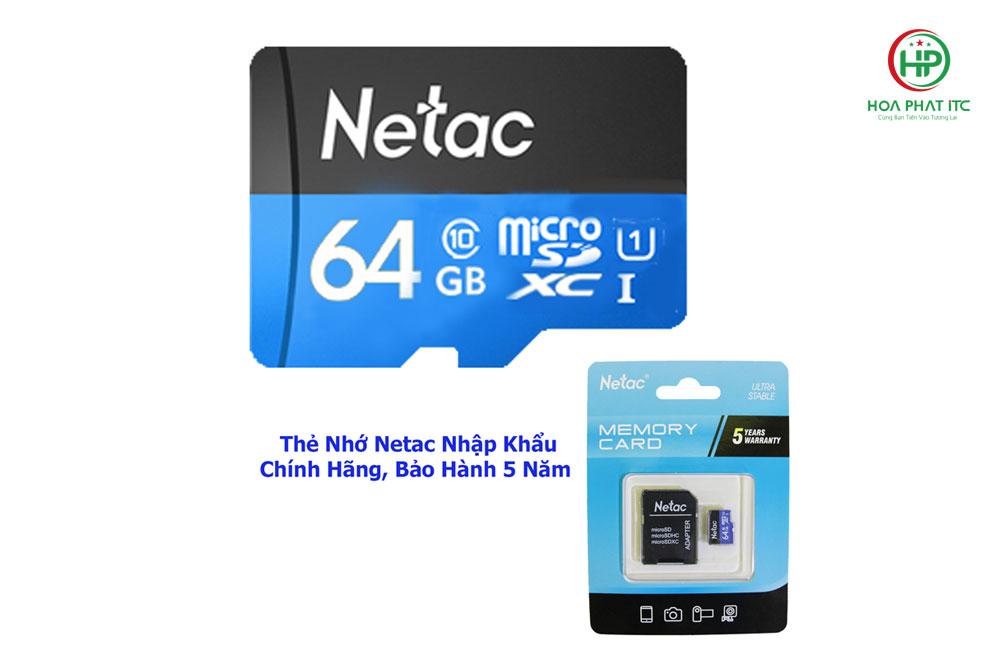 the nho netac 64gb 01 - Thẻ Nhớ Netac 64GB Chuẩn Class 10, Tốc Độ 90MB/S