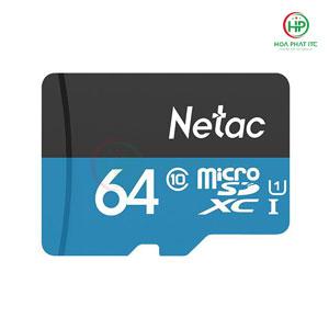 Thẻ Nhớ Netac 64GB Chuẩn Class 10, Tốc Độ 90MB/S