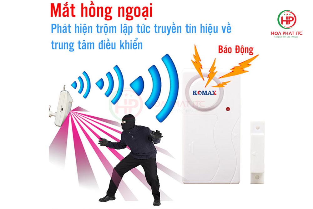 chong trom khong day komax km t45c - Thiết bị chống trộm không dây Komax KM-T45C