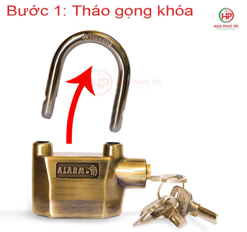 thao gong khoa 1 - Ổ khóa chống trộm hai lõi k-8325