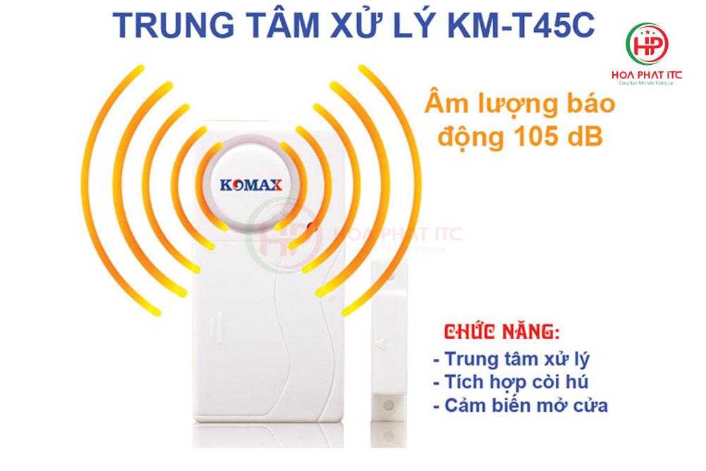 trung tam xu ly km t45c - Thiết bị chống trộm không dây Komax KM-T45C