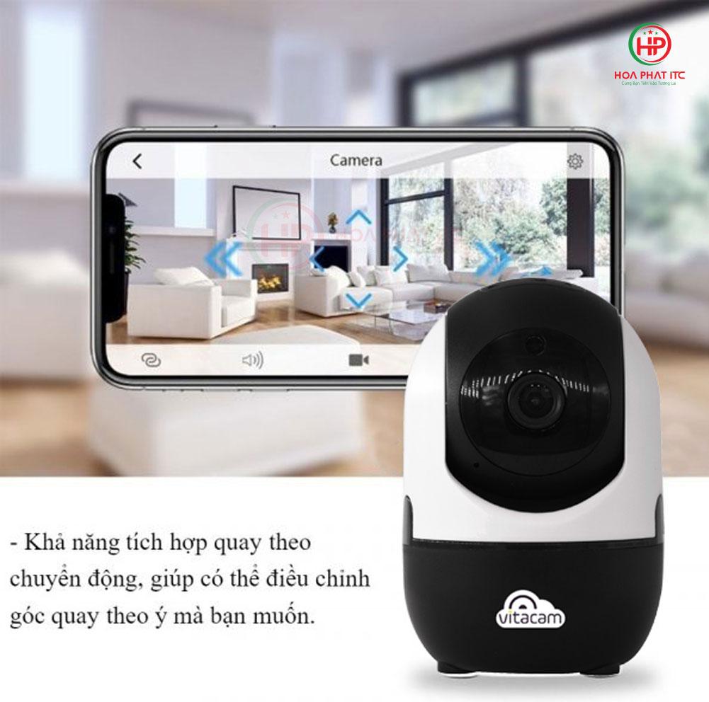 dieu chinh quay quet tren dien thoai - Camera Vitacam C800 2.0Mpx