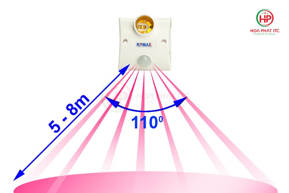 vung cam ung - Đui đèn cảm biến chuyển động Komax KM-S15