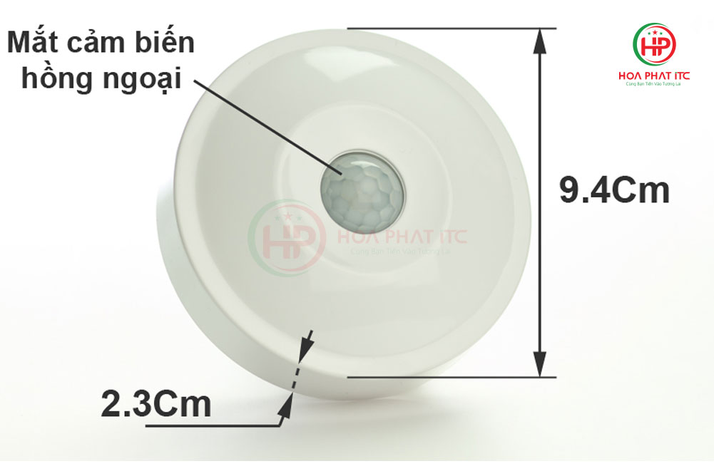 kich thuoc km s19 - Mắt cảm biến hồng ngoại Komax KM-S19
