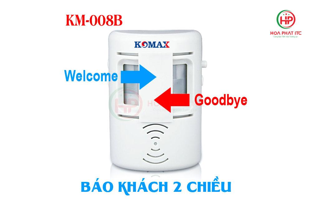 chuong bao khach hai chieu - Chuông báo khách hai chiều Komax KM-008B