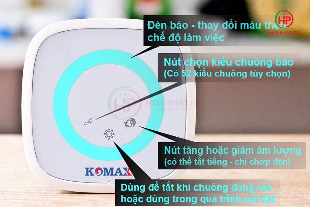 chuong cua khong day KM B02 1 - Chuông cửa không dây Komax KM-B02