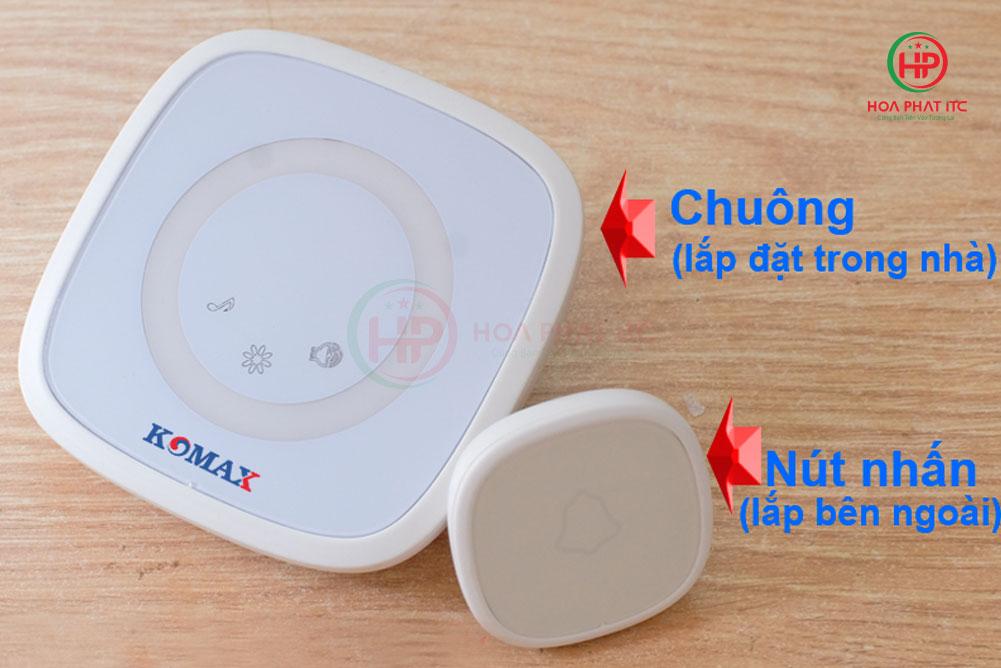 chuong cua khong day komax 1 - Chuông cửa không dây Komax KM-B02