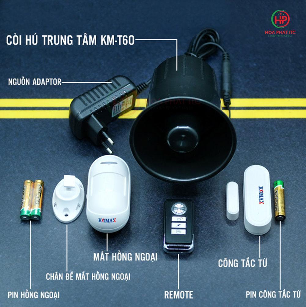thiet bi chong trom komax km t60 - Tư vấn chọn mua thiết bị chống trộm phù hợp nhất