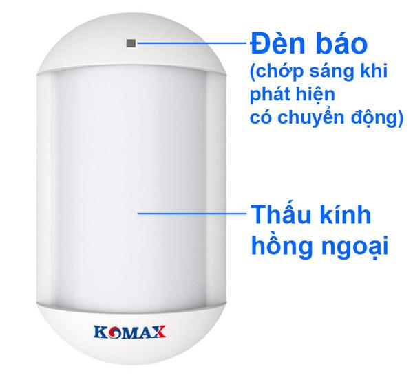 Mat hong ngoai chong bao gia P600 1n - Mắt hồng ngoại Komax KM-P300