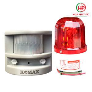 Combo báo động hồng ngoại Komax PG-113 + Đèn xoay không coi