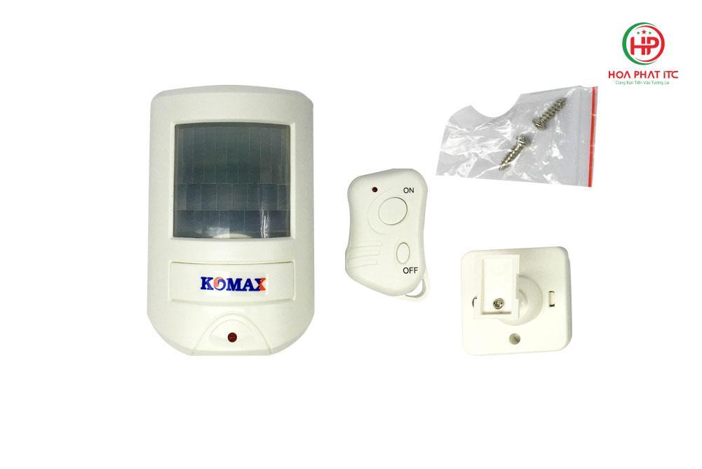 44a60200269fdac1838e4 - Báo trộm hồng ngoại dùng pin Komax KM-X20 cao cấp