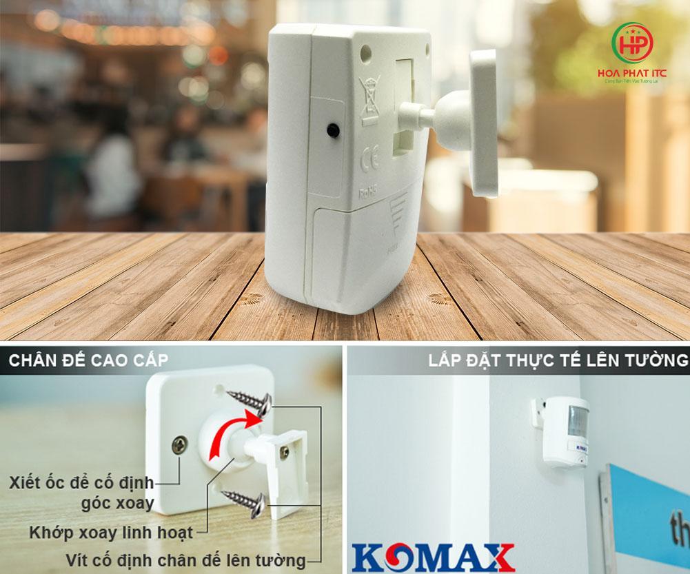 c076d2d0f64f0a11535e5 - Báo trộm hồng ngoại dùng pin Komax KM-X20 cao cấp