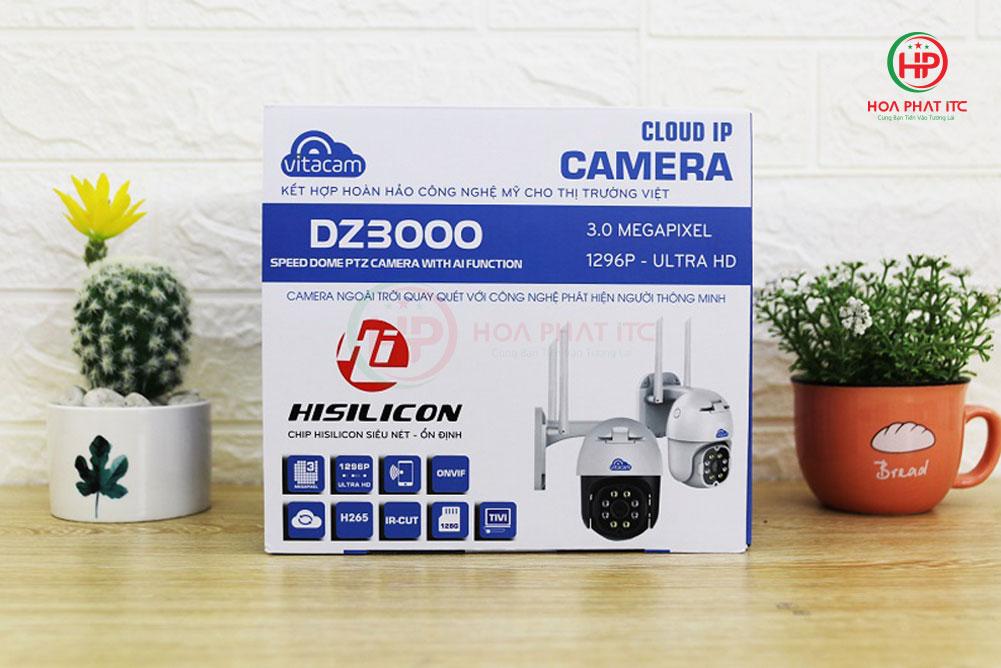 camera vitacam dz3000 1 - Camera Vitacam DZ3000 3.0Mpx PTZ ngoài trời xoay quay quét