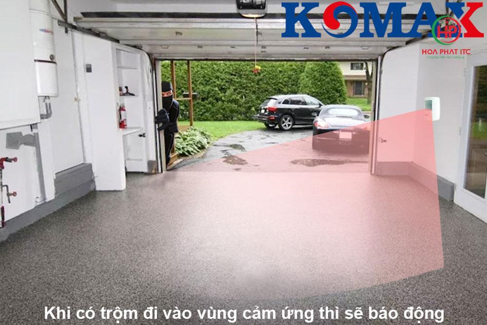 ed4addedf972052c5c631 - Báo trộm hồng ngoại dùng pin Komax KM-X20 cao cấp