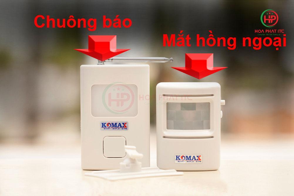 f5e3c3b498f267ac3ee32 - Chuông báo khách hồng ngoại cao cấp Komax KM-X850