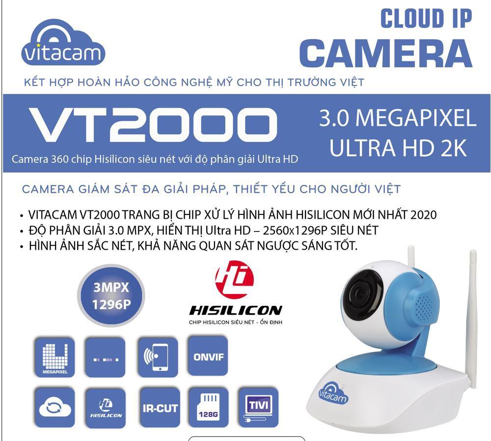 448e4cdd54c8ab96f2d9 - Camera Vitacam VT2000 3.0 Mpx trong nhà