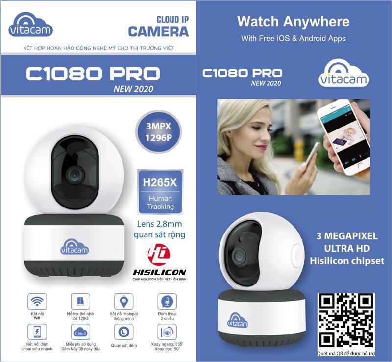 8457e5be76b589ebd0a4 - Camera Vitacam C1080 PRO 3.0Mpx