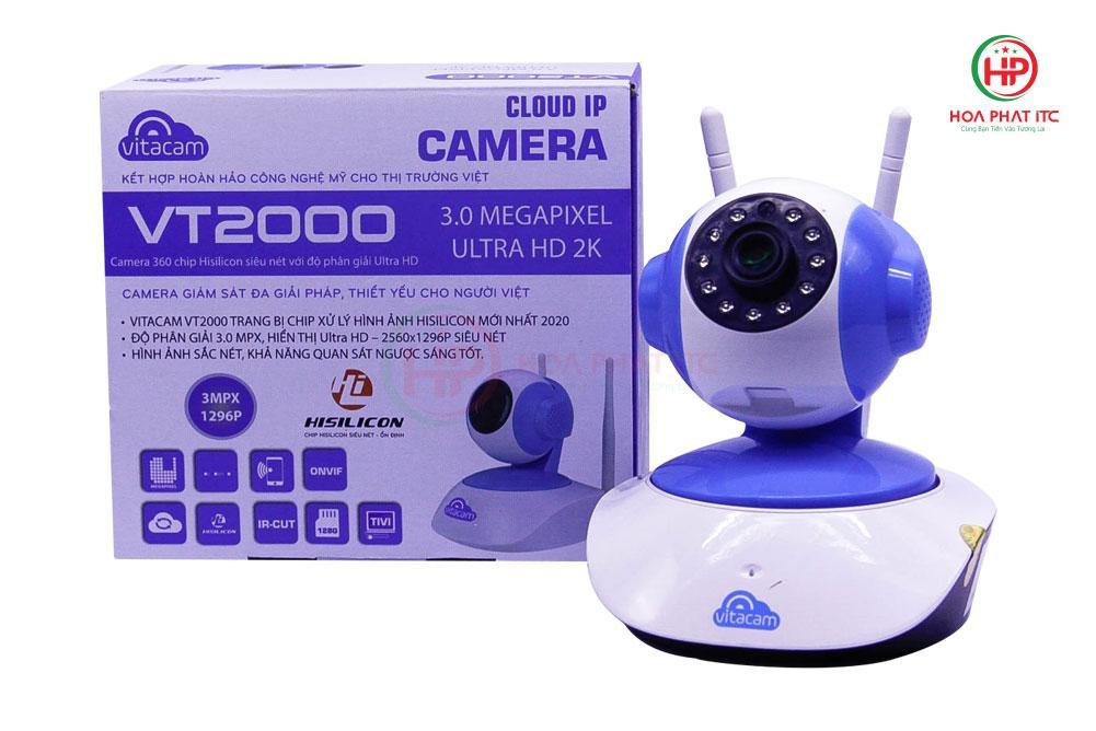 Camera Vitacam VT2000 3.0 Mpx 2 1 - Camera Vitacam VT2000 3.0 Mpx trong nhà