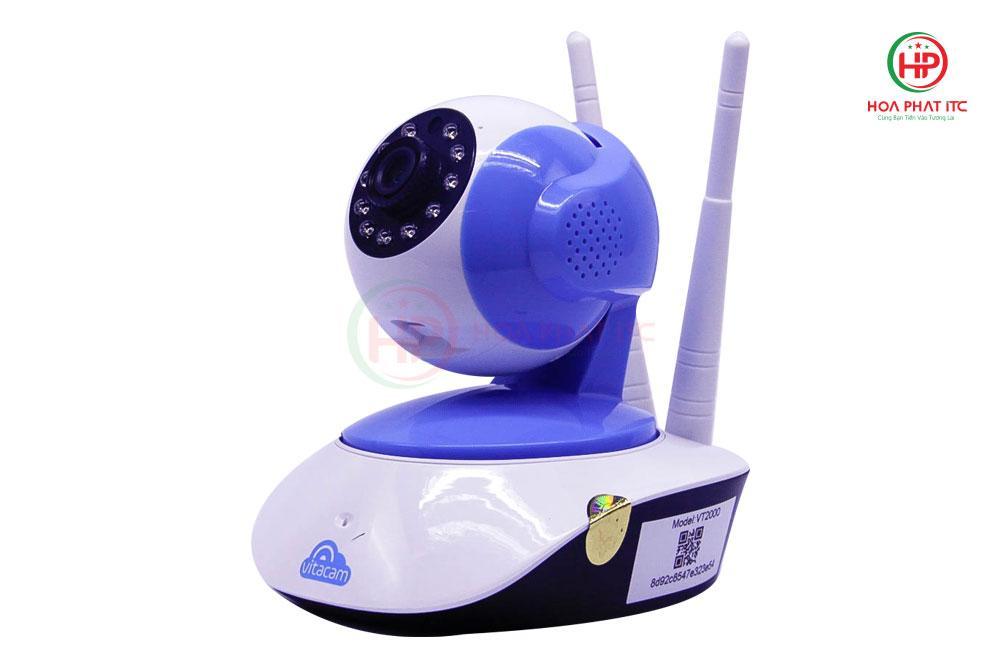 Camera Vitacam VT2000 3.0 Mpx mat ben 1 - Camera Vitacam VT2000 3.0 Mpx trong nhà