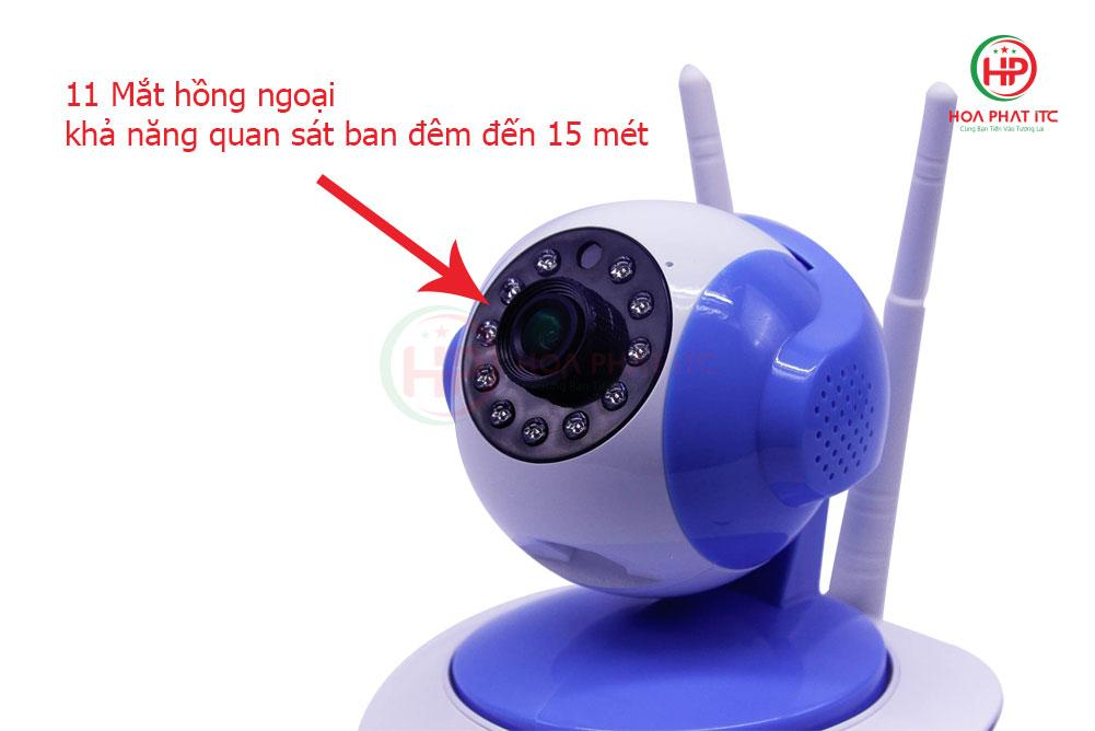 Camera Vitacam VT2000 3.0 Mpx mat hong ngoai 1 - Camera Vitacam VT2000 3.0 Mpx trong nhà