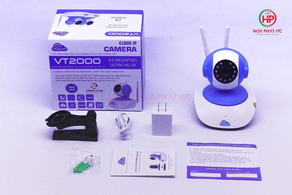Camera Vitacam VT2000 3.0 Mpx trong nha 1 - Camera Vitacam VT2000 3.0 Mpx trong nhà