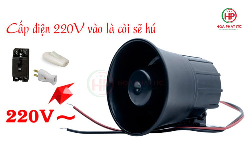 coi hu dun dien km 628 - Còi hú Komax KM-628 dùng điện 220V