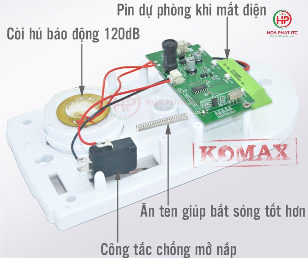 Bo chong trom trung tam Komax KM T80 2 - Bộ chống trộm trung tâm Komax KM-T80