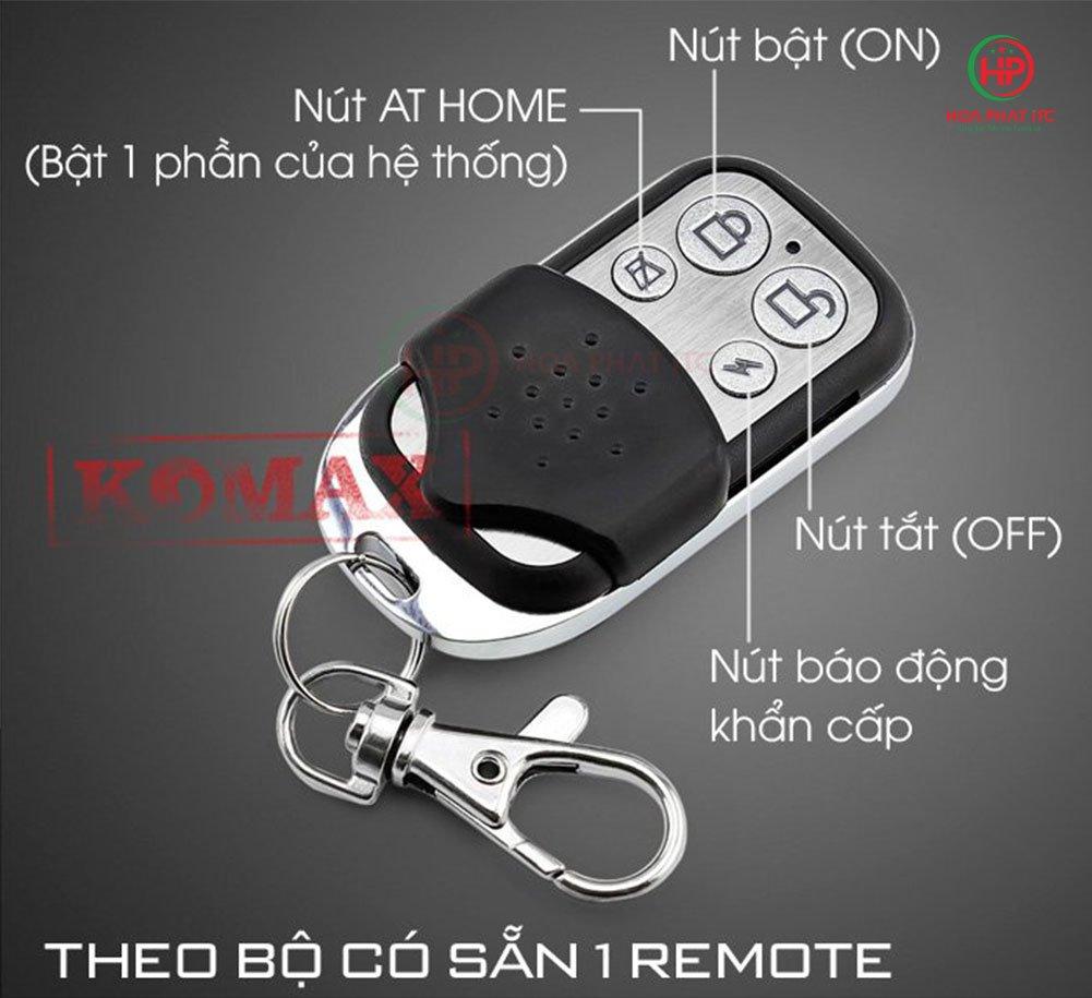Bo chong trom trung tam Komax KM T80 3 - Bộ chống trộm trung tâm Komax KM-T80