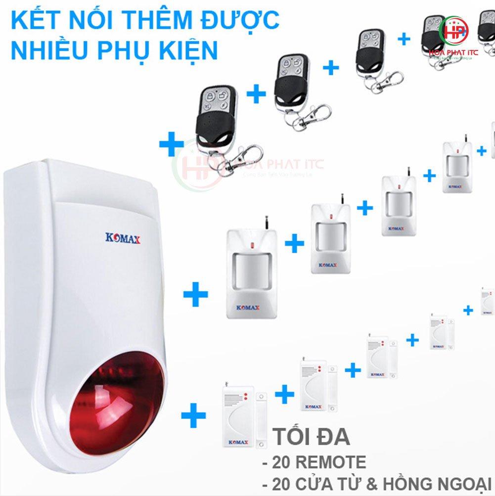 Bo chong trom trung tam Komax KM T80 4 - Thiết bị chống trộm phổ biến nhất hiện nay