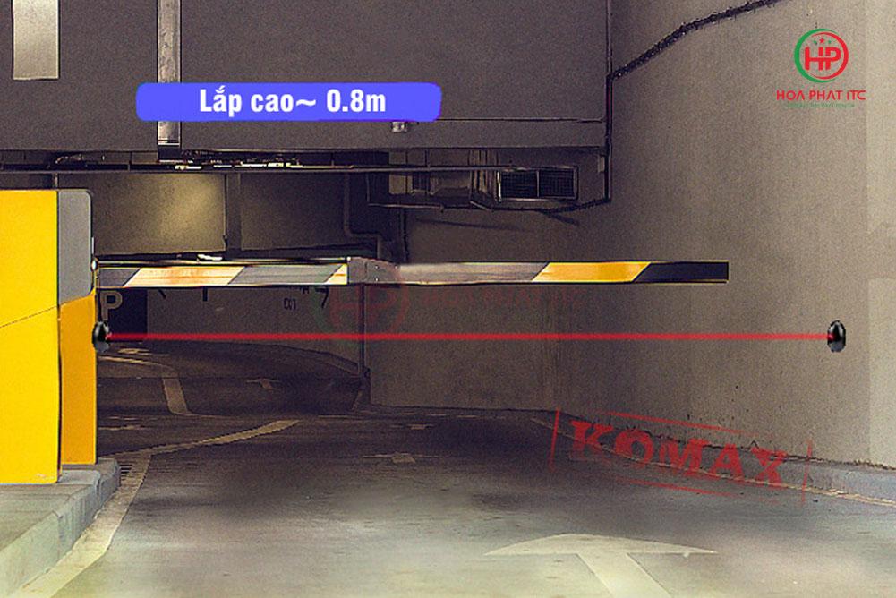 chieu cao lap - Hàng rào hồng ngoại chống trộm Komax ABT-15