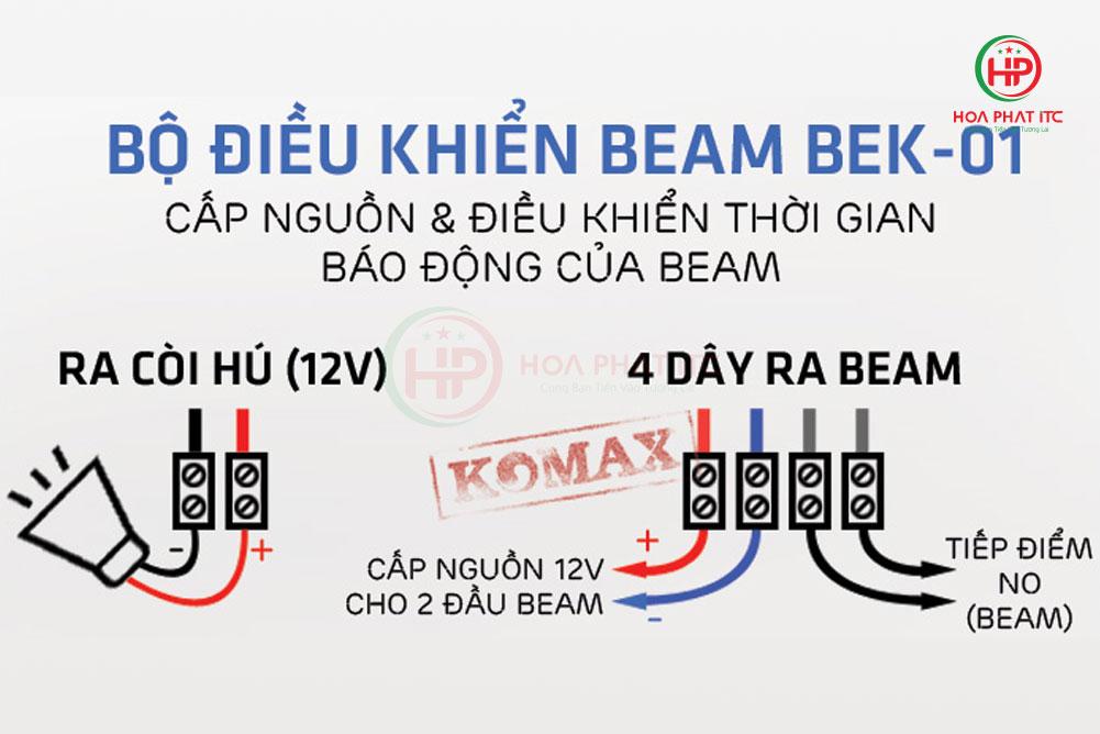 so do dau beam bek 01 - Bộ điều khiển hàng rào hồng ngoại BEK-01