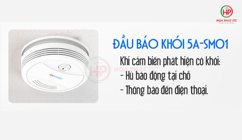 5ASmart 5a sm01 - Báo khói độc lập kết nối wifi 5ASmart 5A-SM01