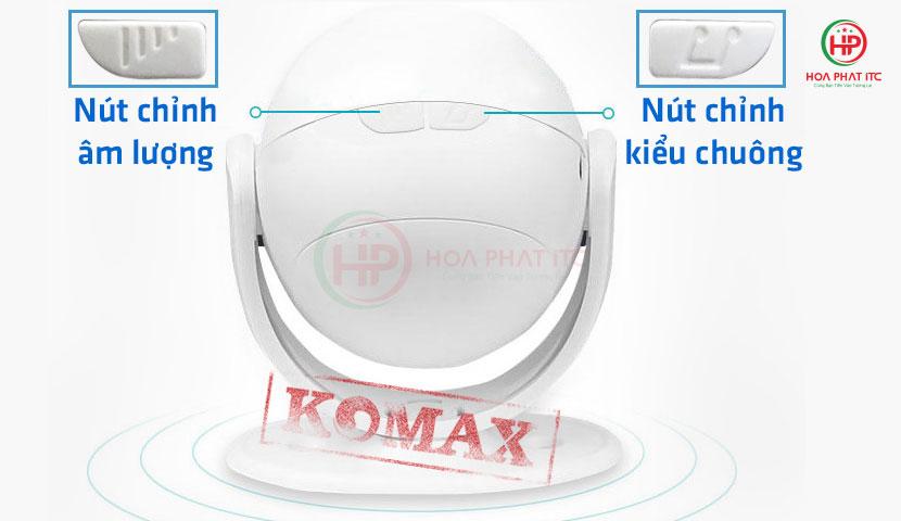 cac nut dieu chinh tren km 002b - Chuông báo khách Komax KM-002B