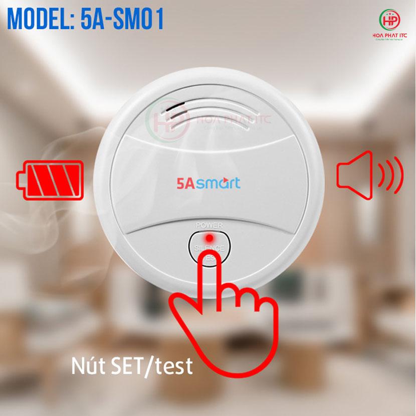 cau tao cam bien khoi 5asmart - Báo khói độc lập kết nối wifi 5ASmart 5A-SM01