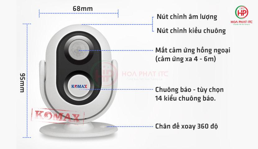 cau tao chuong bao khach komax - Chuông báo khách Komax KM-002B