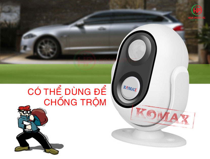 km 002b co th dung de chong trom - Chuông báo khách Komax KM-002B