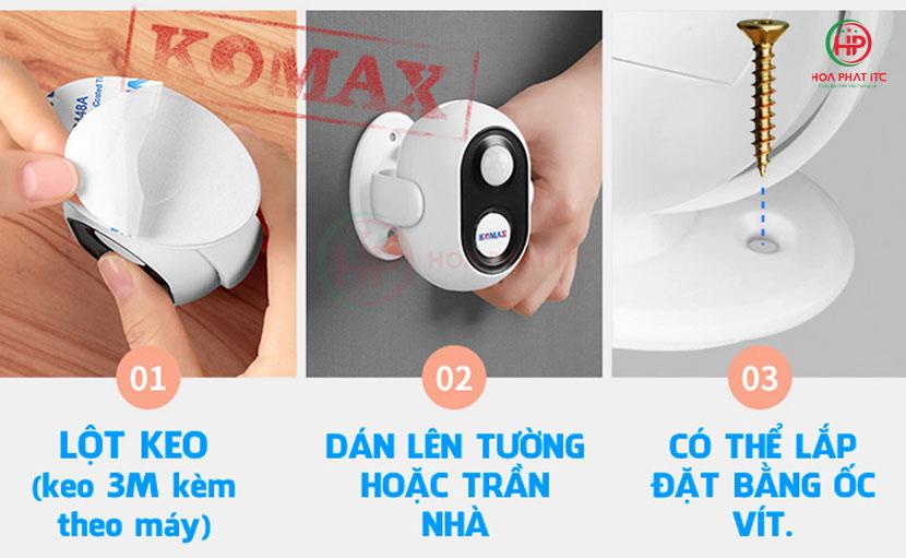 lap dat de dang 01 - Chuông báo khách Komax KM-002B